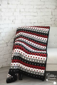 Crochet Pattern, Pebbled Archway Reversible Throw crochet pattern, Afghan crochet pattern, Blanket c Half Double Crochet, Single Crochet, Afghan Crochet Patterns, Blanket Crochet, Crochet Afghans, Crochet Rugs, Kids Crochet, Crochet Granny, Crochet Crafts