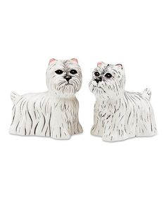 Take a look at this Dee Oh Gie & Pinky Westie Salt & Pepper Shaker Set by Pavilion Gift Company on #zulily today!
