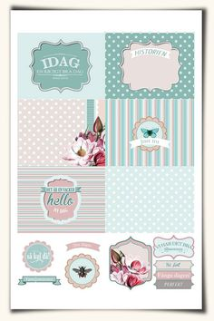 FREE Vintage Magnolia From Pocket scrapbooking [ English and Swedish versions]