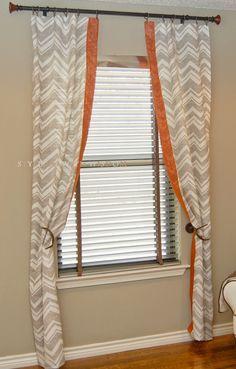 Woodland Nursery chevron curtains