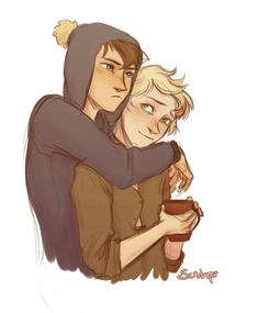 Couple cuddles with Creek Craig South Park, Tweek South Park, South Park Anime, South Park Fanart, Tweek And Craig, House Drawing, Country Art, Cute Drawings, Anime Guys