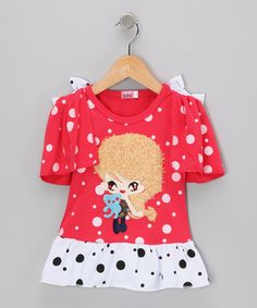 Take a look at this Red Girl Polka Dot Dress - Infant, Toddler & Girls by Hi-D on #zulily today!