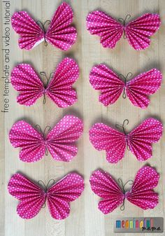 How to Make a Folded Paper Butterfly - Fee Template and Video Tutorial