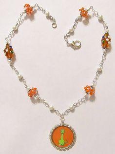 Dinosaur Necklace Children's Necklace Kid's Jewelry by Starfall, $17.00