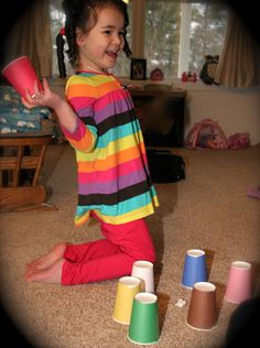 Spanish Game for Kids – Paper Cups for Hiding » Spanish Playground