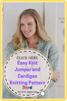 There's something irresistible about chunky jumpers and cardigans. Wearing one is like being in a warm and loving hug with no end. They are a must-have and a great challenge to intermediary knitters. Experienced ones will have an easier time completing the sweater. These easy to make jumpers and cardigans are not only warm and great way to keep the cold weather at bay but also deadly cute. #cardiganpatterns#knittedcardiganpattern#knittingpatterns#easyknitting#knittingathome#easycardiganpatterns Jumper Patterns, Cardigan Pattern, Knitting Patterns, Sewing Patterns, Wrap Cardigan, Chunky Yarn, Getting Cozy, Jumpers, Pattern Making