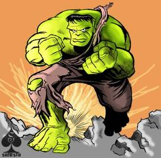the hulk - Comics by Shresth Bhadani at touchtalent 33456