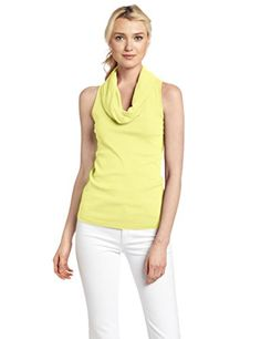 d0f9eae4255d77 Amazon.com  Three Dots Women s Sleeveless Rolled Cowl Neck Shirt  Clothing
