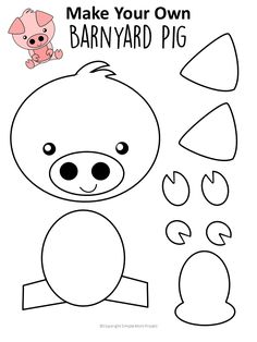 Easy DiY Pig Craft Activity for Preschool Kids - Simple Mom Project - - The best and cutest pig activity for a preschool farm theme! Find a FREE pig template and step-by-step instructions to make your own pig craft! Farm Animal Crafts, Pig Crafts, Farm Crafts, Animal Crafts For Kids, Art For Kids, Paper Crafts, Easy Preschool Crafts, Daycare Crafts, Toddler Crafts