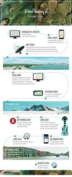 #infografico: Os 10 anos do Google Maps.