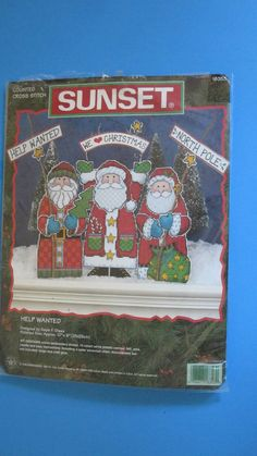 Help Wanted Counted Cross Stitch Kit #18353 Sunset Dimensions 1998 OPEN #SunsetDimensions #Frame