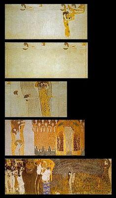 13.Friso Beethoven, 1902, Oil by Gustav Klimt (1862-1918, Austria)