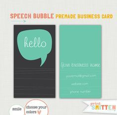 dialogue bubble business card - Google Search
