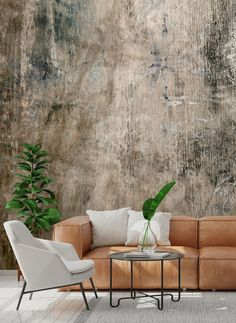 Get the industrial look with one of our custom made concrete wallpaper murals. Brick Effect Wallpaper, Look Wallpaper, Wallpaper Decor, Modern Wallpaper, Textured Wallpaper, Textured Walls, Industrial Wallpaper, Distressed Walls, Diy Décoration