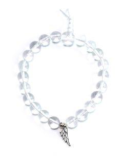 "✪ Bergkristall Armband ""Angelwing"" mit zartem Engelsflügel in echtem 925er Silber - spiritueller Schmuck - versandkostenfrei! ✪"