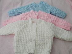 This little cardigan has a cosy look with nice detail, but is easy to do, will look lovely on a baby girl or boy. It has 5 sizes for newborn upwards, so when it becomes a favourite you can knit the next size. I have knitted this in Pink Blue and White, with spring around the corner it would look fab in Lemon.