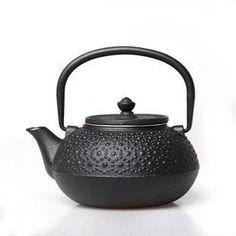 Japanese Kansai Black Spots Cast Iron Teapot