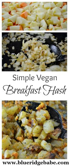 Easy, delicious recipe for vegan breakfast hash