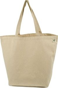 ECOBAGS Recycled Cotton Canvas Bag, Standard wide - Large Gusset