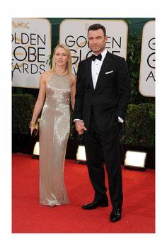 Globos de Oro 2014. La mejor pareja sobre la alfombra roja, Naomi Watts y Liev Schreiber.