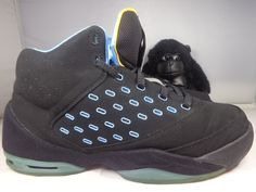 8150453fbeea7b Details about Nike Air Jordan Melo M9 Men s Basketball Sneakers Black  Silver Red - Size 11.5