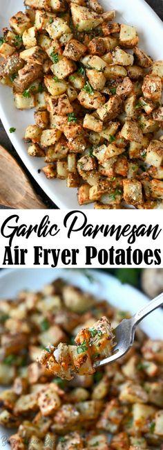 Air Fryer Oven Recipes, Air Frier Recipes, Air Fryer Dinner Recipes, Air Fryer Recipes Potatoes, Air Fryer Recipes Vegetarian, Potato Sides, Potato Side Dishes, Main Dishes, Air Fry Potatoes
