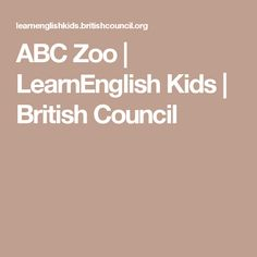Play fun English games for kids - Free games to practise your English. English Games For Kids, Free Games For Kids, Abc Zoo, British Council, Holidays, Reading, Holidays Events, Holiday, Reading Books