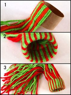 Finish wrapping the yarn.