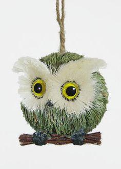 Grass Baby Owl Christmas Tree Ornament Halloween Decor Window Prop
