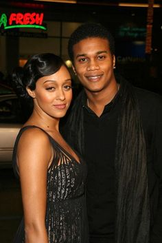 Tia Mowry & husband Corey Hardict m. Hot Couples, Black Couples, Couples In Love, My Black Is Beautiful, Beautiful Couple, Black Love, Famous Celebrity Couples, Famous Couples, Black Celebrities