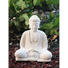 @Overstock - This detailed statuette portrays a serene meditating Buddha. This accent sculpture is crafted of concrete stained with a white sandstone coloring and will make a lovely accent for any garden or home.  http://www.overstock.com/Worldstock-Fair-Trade/White-Sandstone-Buddha-Statue-Indonesia/5036526/product.html?CID=214117 $35.99