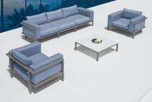 On Sale now! Renava Sardinia - Sofa, Two Chairs and Coffee Table Patio Set