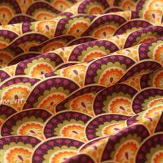 Vera Bradley fabric Remnant 100% Cotton Plum Crazy Lining 1 Yard