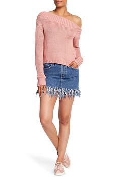 49d9f2cebffe6 Aubrey Distressed 5 Pocket Mini Skirt Denim Mini Skirt, Mini Skirts,  Distressed Denim,