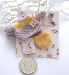 dollhouse knitted jumper and pants lilac in by Rainbowminiatures