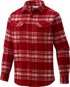 db9a3c32373 Columbia Men's Alabama Crimson Tide Crimson Plaid Flare Gun Flannel Long  Sleeve Shirt