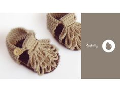 Baby shoes / Crochet Baby Booties / Baby Sandals by RiceBabyShop, $25.00