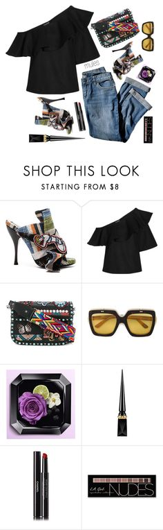 """""""!!!"""" by maria-laura-correa-da-silva ❤ liked on Polyvore featuring N°21, J.Jill, Paper London, Valentino, Gucci, Christian Louboutin, Chanel and Charlotte Russe"""
