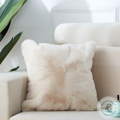 Savesto Ivory Small RAF Sectional from Ashley   Coleman Furniture Soft Pillows, Decorative Pillows, Throw Pillows, Types Of Sofas, Fur Pillow, Sleigh Beds, Faux Fur Throw, Panel Bed, Saturated Color