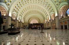 Washington D.C.'s Union Station has transformed into a D.C. landmark and is visited by 32 million each year. Amtrak, MARC, and VRE commuter railroads are all served by Union Station, as is the Washington Metro transit system. Union Station was designed to be the grand ceremonial entrance into Washinton D.C. in 1908 and has defined the city ever since.