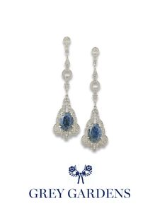 Little Edie Deco diamond with denim lapis earrings....simply divine!