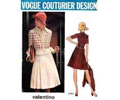 Valentino Pleated Coat Dress & Jacket 70s by allthepreciousthings