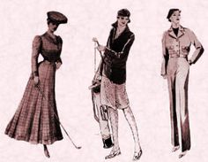 Golfing 1905, 1929, 1935