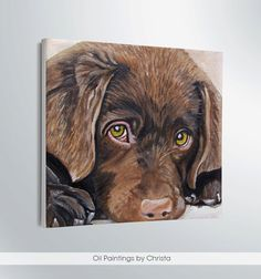 CUSTOM PET PORTRAIT-Dog Portrait-Oil Painting- dog face painting-gifts for her-Puppy-cats-dogs-art-home decor-pet lovers USD) by OilpaintingsChrista Gifts For Pet Lovers, Dog Gifts, Cat Lovers, Custom Dog Portraits, Pet Portraits, Animal Paintings, Canvas Paintings, In This World, Lion Sculpture