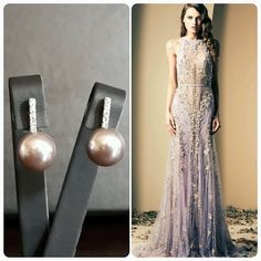 Ziad Nakad Dress  BrideIstanbul Earrings