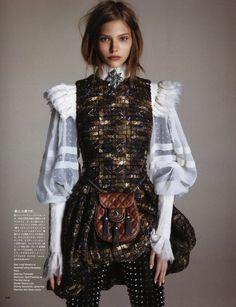 Sasha Luss ph Luigi Murenu & Daniele Duella and Iango Henzi for Vogue Japan October 2013