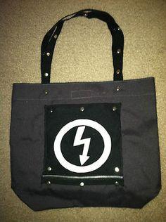 Marilyn Manson Black Tote Bag - Antichrist Superstar lightning logo Goth chic