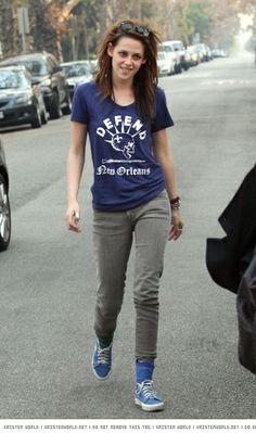 Kristen Stewart and Defend New Orleans T-shirt
