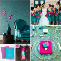 Colour code - Fuchsia + Teal design