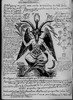 Baphomet, imagen en libro Thasi is the most beautiful drawing of the wonderful baphomet 🖤🖤🖤 Occult Symbols, Occult Art, Baphomet, Arte Horror, Horror Art, Mythological Creatures, Mythical Creatures, Dark Fantasy Art, Dark Art